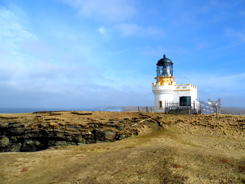 brough of birsay lighthouse, orkney, scotland