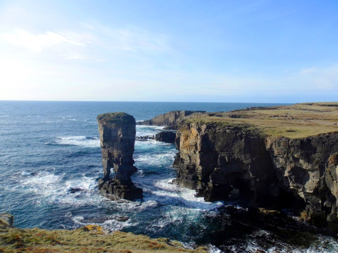yesnaby, orkney, scotland, scottish island, coast, coastal walk, sea stack