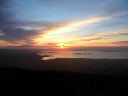 Sunset from Wideford Hill, Orkney, Scotland
