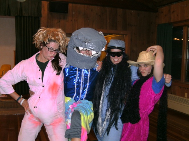 dressing up for the kids, Camp America, Brookwoods & Deer Run, New Hampshire, USA