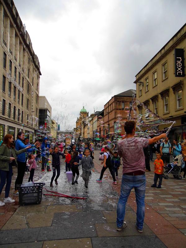 Bubbles in Glasgow, Scotland