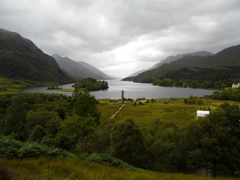 Glenfinnan loch & monument, Scotland, UK
