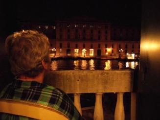Balcony view, Hotel Canal, Venice, Italy