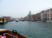 Grand Canal on the vaporetto, Venice, Italy