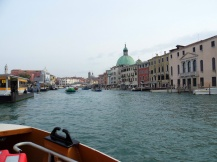 Grand Canal on the vaporetto, Venice, Italy