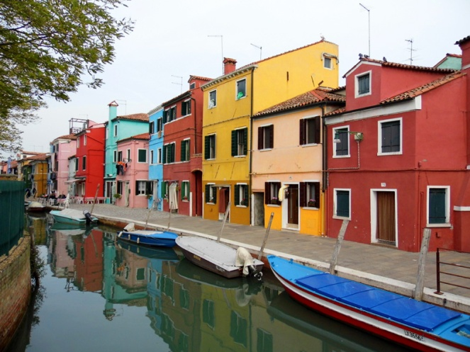 Colourful buildings, Burano, Venice, Italy