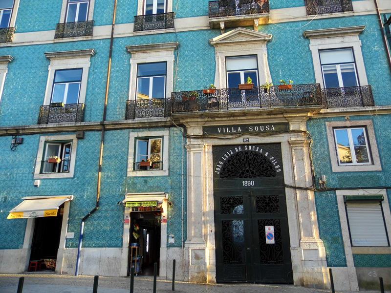 Villa Sousa tiled building, Alfama, Lisbon, Portugal