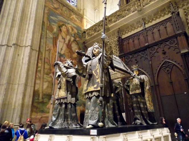 Christopher Columbus tomb, Sevilla Cathedral, Seville, Spain