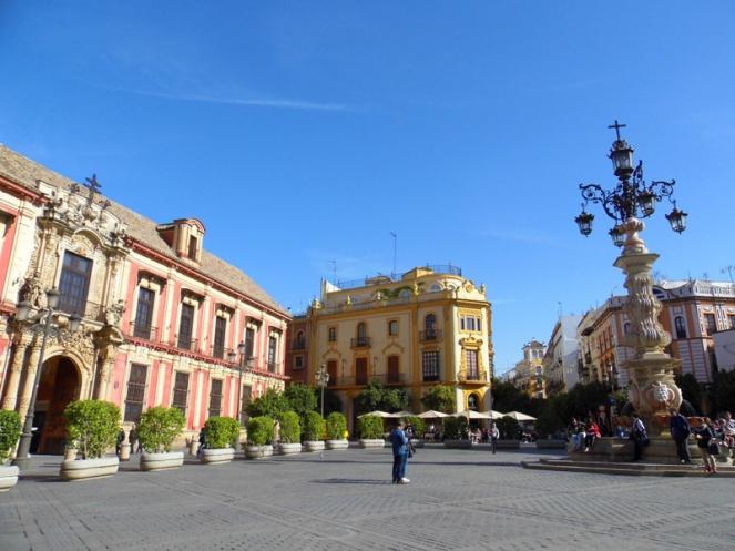 Town square, Seville, Spain