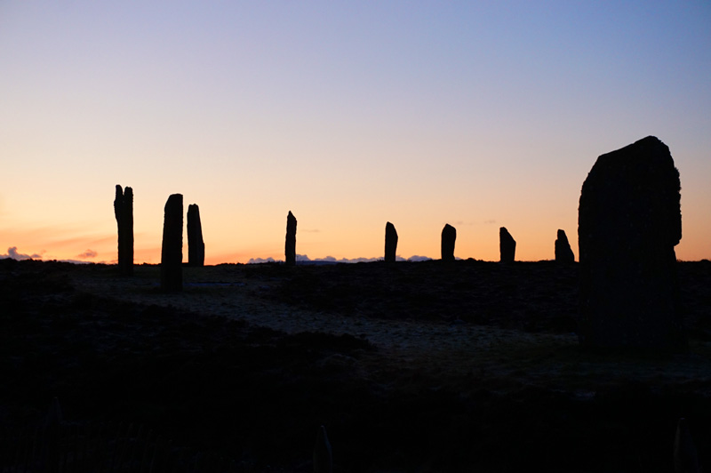Ring Of Brodgar sunset, Orkney, Scotland