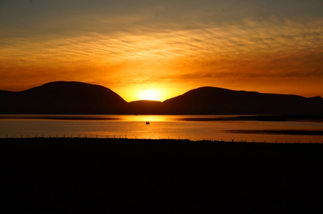 Sunset over the Hoy Hills, Orkney, Scotland