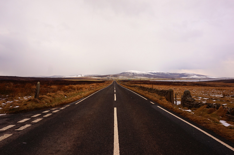 Orphir road, road trip, landscape, Orkney, Scotland