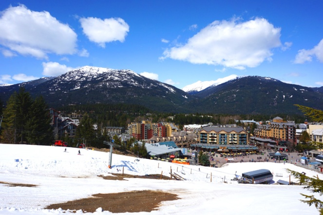 Whistler from above, Canada
