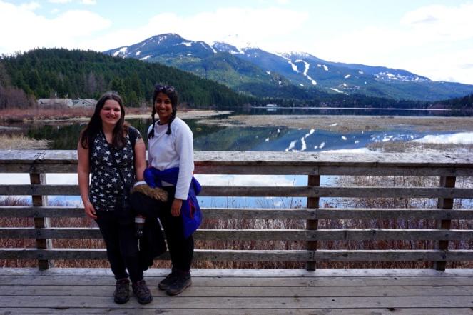 Beautiful mountains & lake in Whistler, Canada