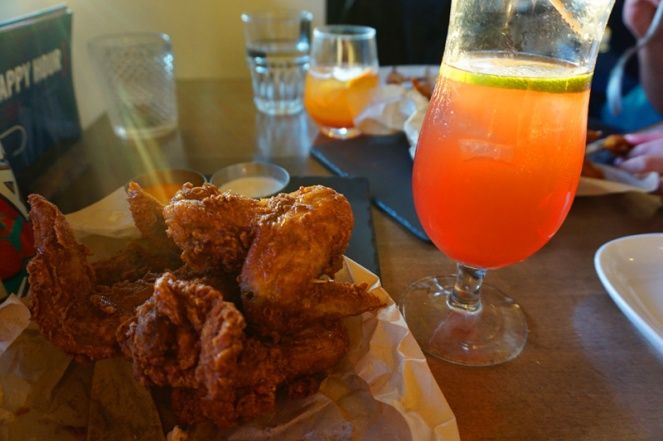 Chicken wings & cocktails in Hook, Vancouver