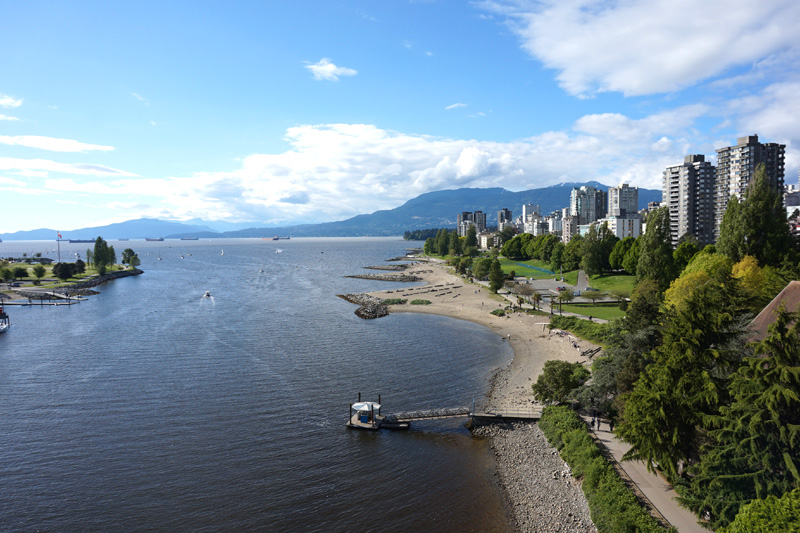 View from Burrard Bridge, Vancouver, Canada