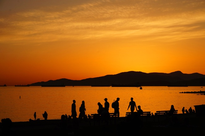Sunset at English Bay, Vancouver, Canada
