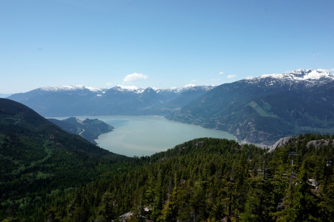 Squamish from Sea To Sky gondola station, BC, Canada
