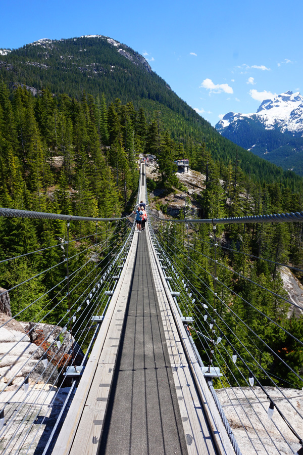 Sea to sky gondola bridge, Squamish, BC, Canada