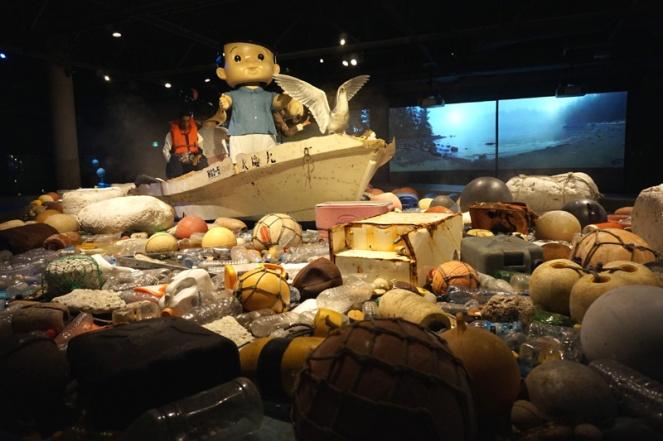 Vortex exhibition plastic ocean waste, Vancouver Aquarium, Vancouver, Canada