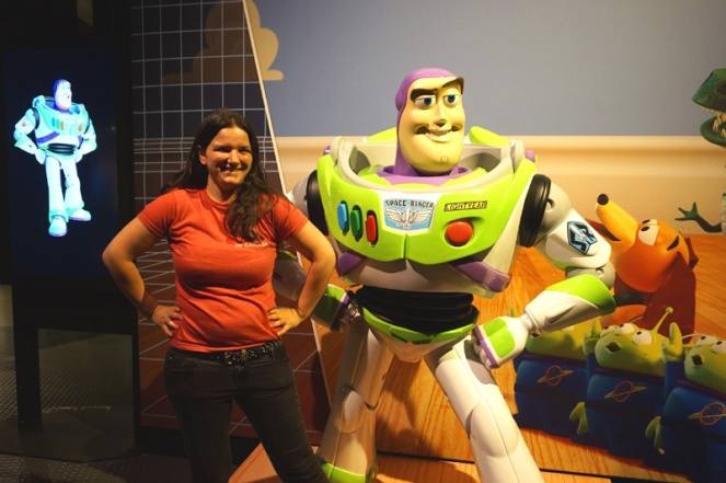 Meeting Buzz Lightyear, Science Behind Pixar, Science World, Vancouver, Canada