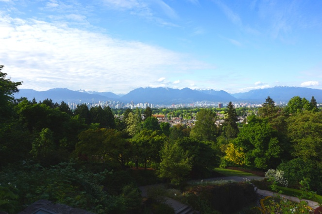 View of Vancouver city from Queen Elizabeth Park, Canada