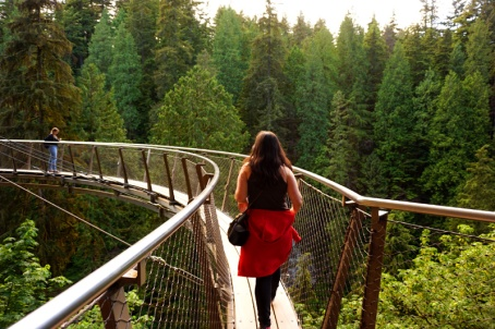 Capilano Suspension Bridge cliff walk, Vancouver, Canada