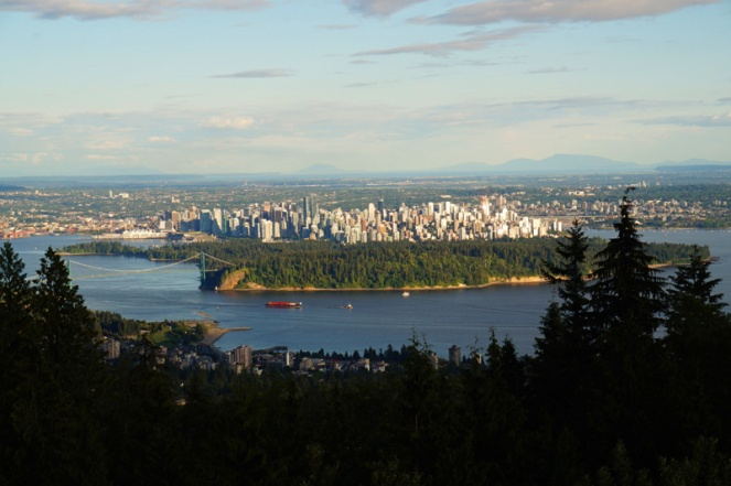 View over Vancouver, Canada