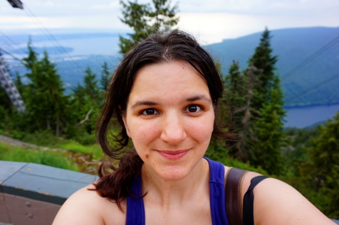 Smiling because I survived the Grouse Grind, Vancouver, Canada!