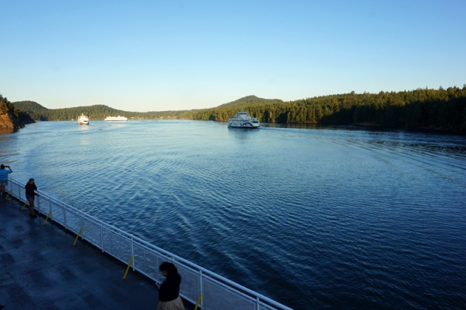 Crossing from Vancouver to Victoria, BC, Canada
