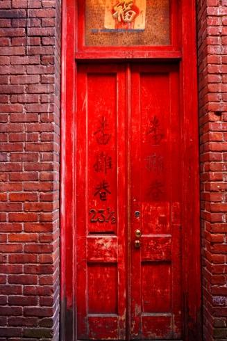 23 1/2 doorway, Fan Tan Alley, Victoria, BC, Canada