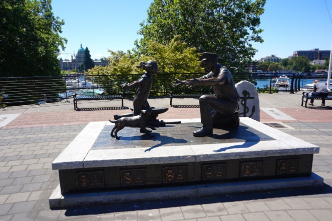 The Homecoming Statue, Victoria, BC, Canada