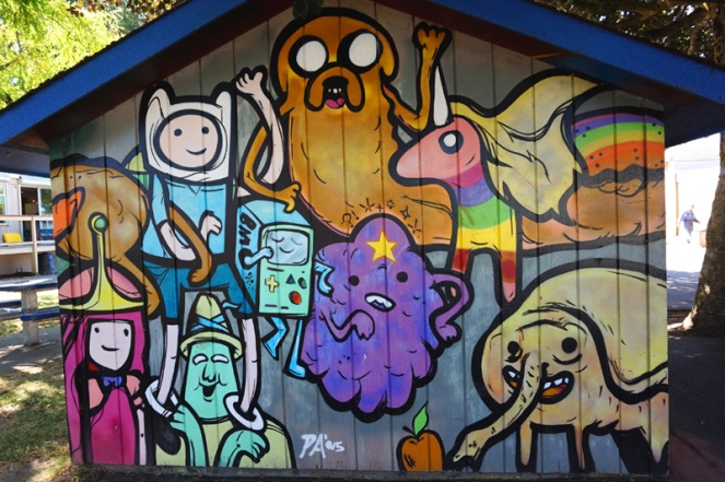 Adventure Time art, Victoria, BC, Canada