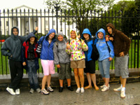 In the rain, White House, Washington DC, USA