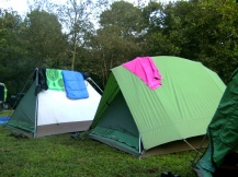 Tents in Tennessee, USA