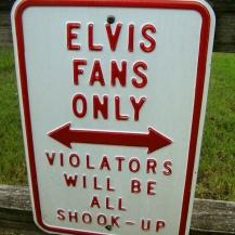 Elvis fans only sign, Graceland campsite, USA