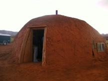 Hogan mud hut, Monument Valley, Utah, USA