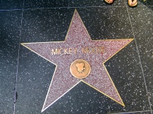 Mickey Mouse star, Hollywood, LA, USA