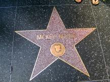 Mickey Mouse star, Hollywood, LA, USA