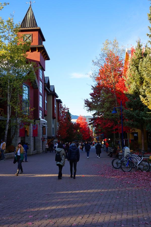 Whistler in autumn / fall, Canada