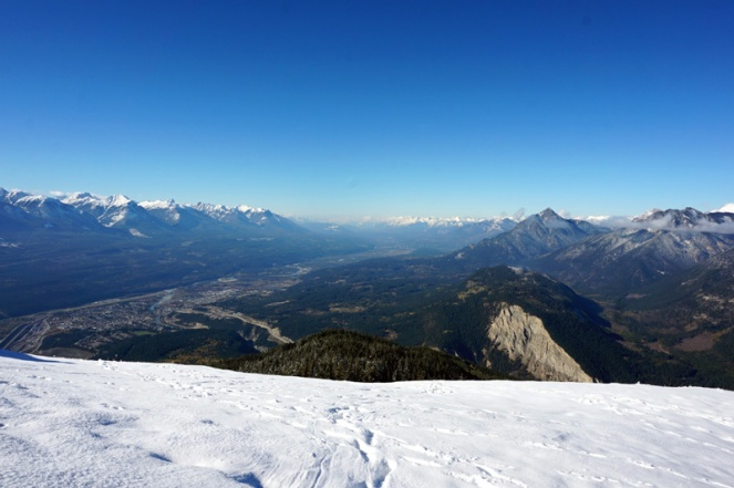 View from paragliding mountain, BC, Canada