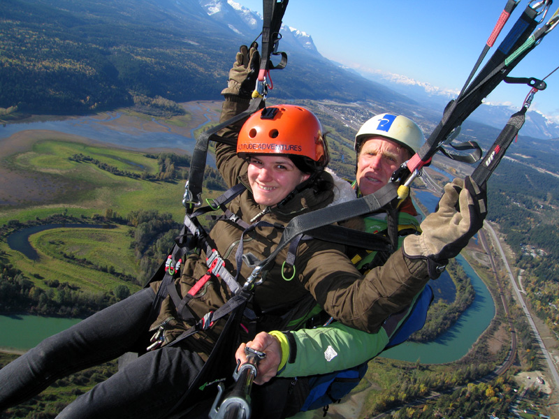Paragliding over Golden, BC, Canada