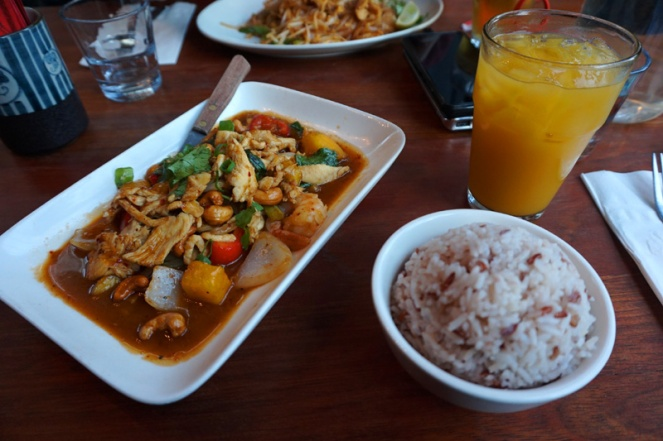 Dinner at Thai Peacock, Portland, Oregon