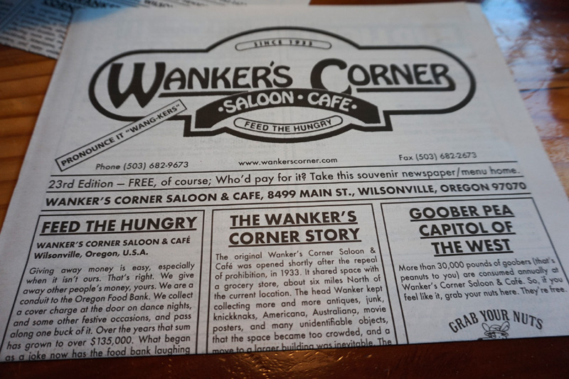 Wankers Corner Saloon Cafe, Portland, Oregon