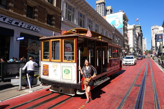 Cable car tram, Union Square, San Francisco