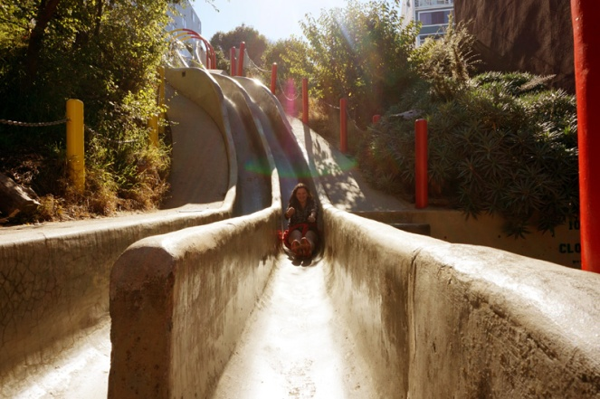 Seward Street slide, San Francisco