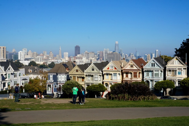Postcard Row, Painted Ladies, Alamo Square Park, San Francisco