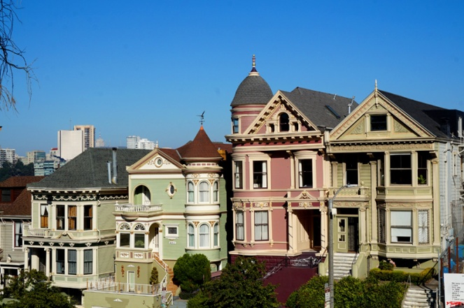 Pretty houses, Alamo Square, San Francisco