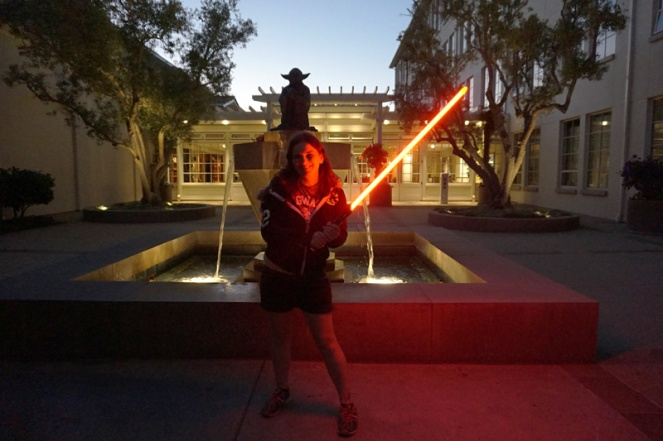 Light saber at Yoda Fountain, San Francisco