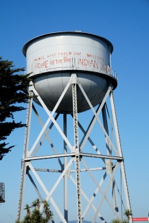 Water tower, Alcatraz, San Francisco